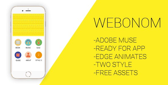 Webonom - Adobe Muse and Html Template for Mobile Apps