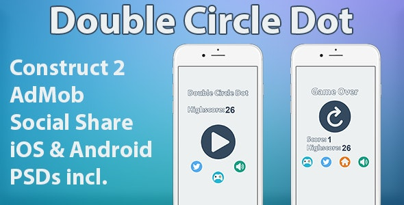 Double Circle Dot - HTML5 Mobile Game - CodeCanyon Item for Sale