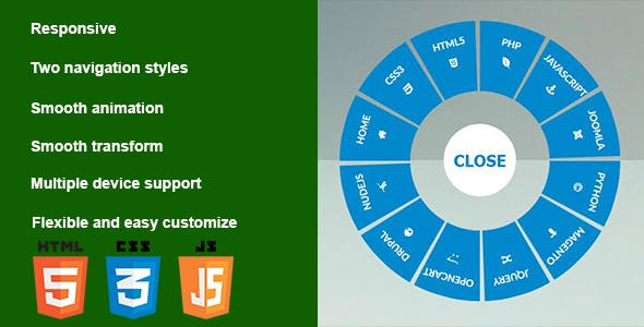 Responsive CSS3 Circular Navigation