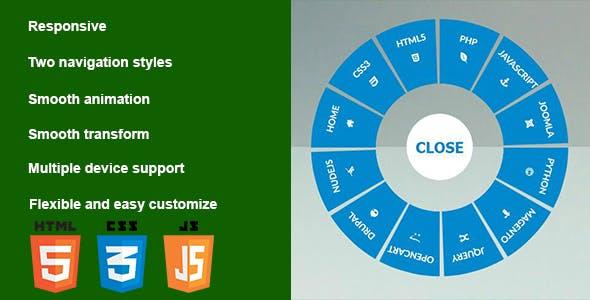 Circular Navigation Plugins, Code & Scripts from CodeCanyon
