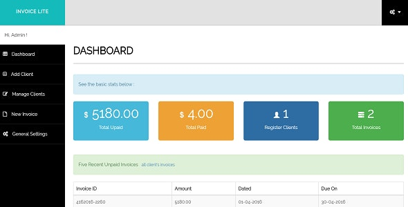 Invoice Manager - Lite - CodeCanyon Item for Sale