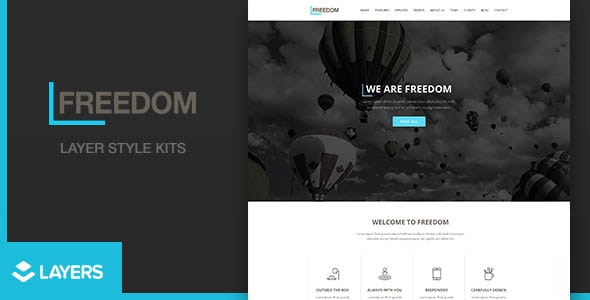 Freedom | Layers Wordpress Style Kits - CodeCanyon Item for Sale