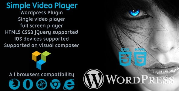 Simple Video Player svPlayer Plugin For WpBakery Builder - CodeCanyon Item for Sale