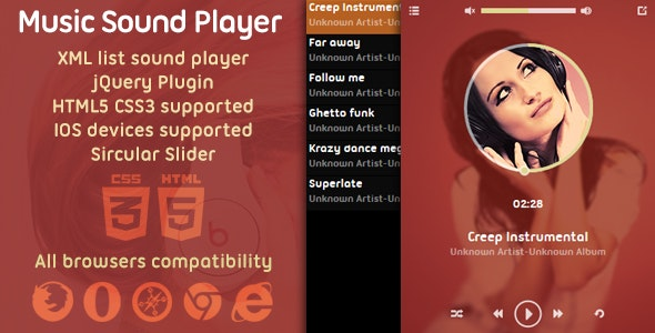 Music Player XML List jQuery Plugin - CodeCanyon Item for Sale
