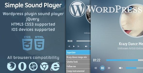 WordPress ssPlayer Sound Player Plugin - CodeCanyon Item for Sale