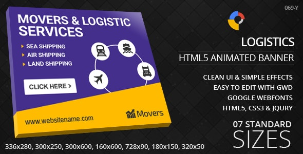 Logistics - HTML5 ad banners - CodeCanyon Item for Sale