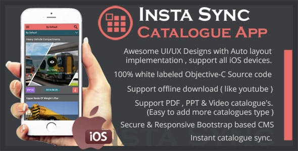 Insta Sync Catalogue Utility App using CouchDB