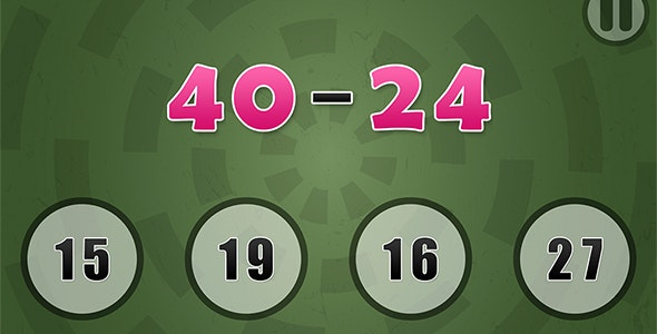 Simple Arithmetic with AdMob and Leaderboard - CodeCanyon Item for Sale