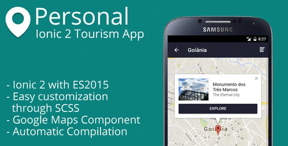 Personal - Ionic 2 Tourism App