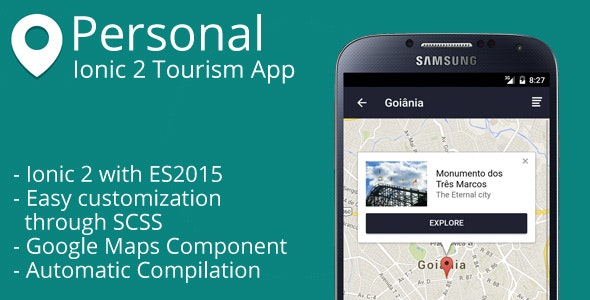 Personal - Ionic 2 Tourism App - CodeCanyon Item for Sale