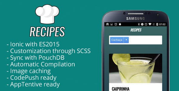 Recipes - Ionic Recipes App