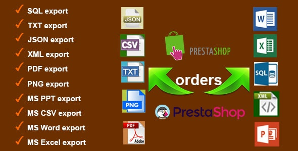 Orders Export for PrestaShop - CodeCanyon Item for Sale