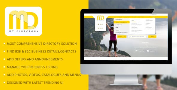 Online Business Listings Directory Software Solution - My Directory