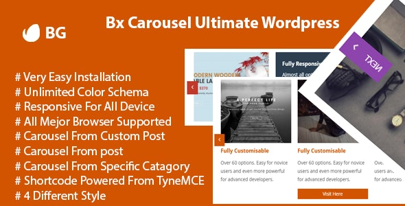 Bx Carousel Ultimate Wordpress - CodeCanyon Item for Sale