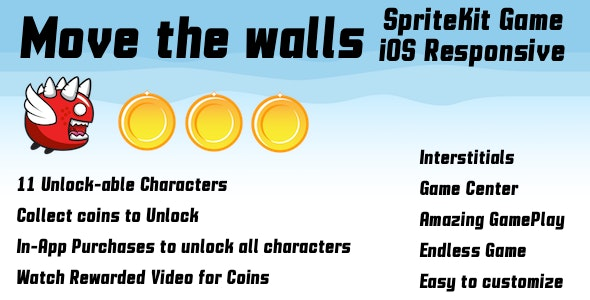 Move the Walls iOS - CodeCanyon Item for Sale