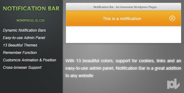 Notification Bar for Wordpress