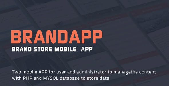 BrandAPP ionic two mobile applications