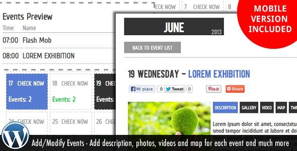 WP Events Calendar Plugin - CodeCanyon Item for Sale