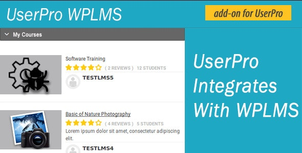 UserPro WPLMS - CodeCanyon Item for Sale