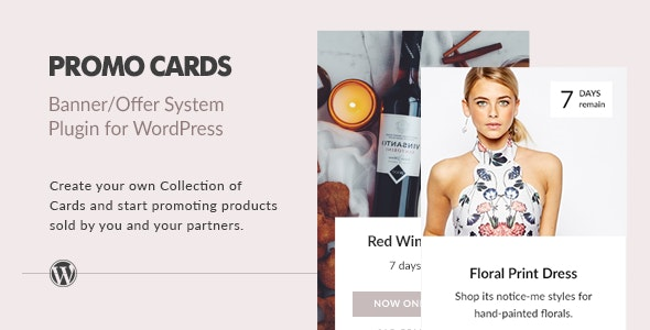 Promo Cards - Banner/Offer System Wordpress Plugin - CodeCanyon Item for Sale