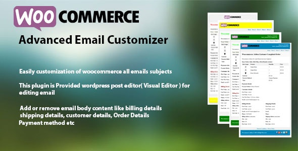 WooCommerce Advanced Email Customizer - CodeCanyon Item for Sale