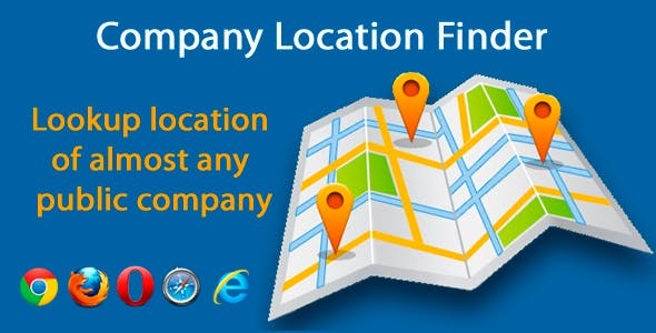 Google Maps Company Location Finder