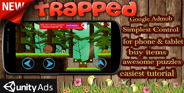 Trapped (New) - Admob, Unity Rewarded Video Ads Integrated & Game Template