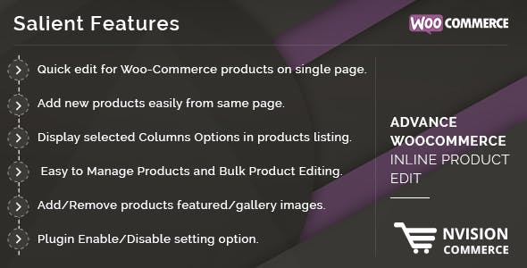 Advance WooCommerce Inline Product Edit