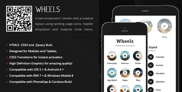 Wheels | Creative Navigation for Mobile & Tablets - CodeCanyon Item for Sale