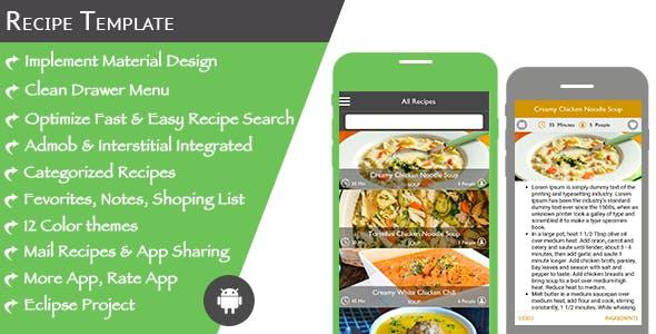 Multi Purpose Recipe Template for Android