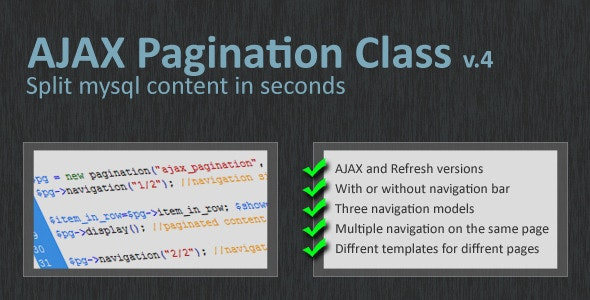 Pagination Class 3 0 by websource | CodeCanyon
