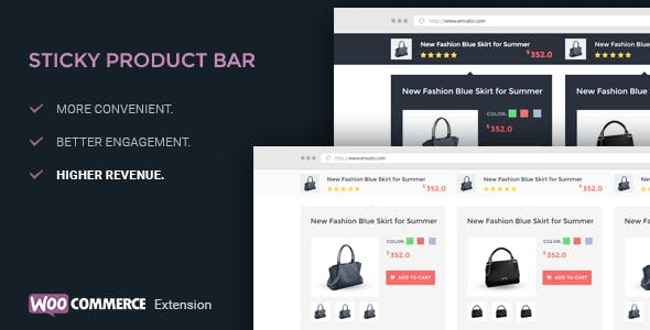 WooCommerce Product Sticky Bar - WooCommerce Extension
