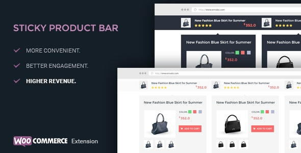 WooCommerce Product Sticky Bar - WooCommerce Extension - CodeCanyon Item for Sale