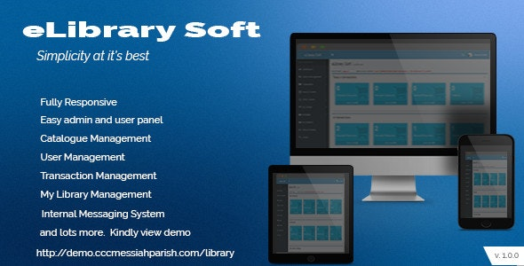 Electronic Library Management system - CodeCanyon Item for Sale