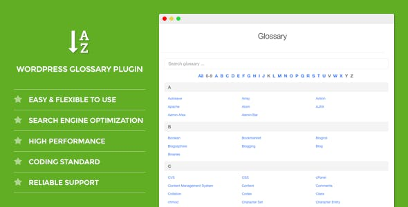 DW Glossary - WordPress Plugin