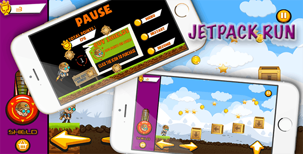 Jetpack Run - iOS - Android - iAP + ADMOB + Leaderboards