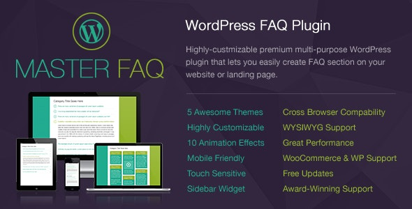 Master FAQ - Highly-Customizable Responsive WordPress FAQ Plugin with WooCommerce Support - CodeCanyon Item for Sale