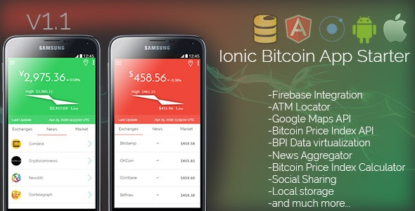 Ionic Bitcoin App Starter - CodeCanyon Item for Sale