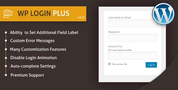 WP Login Plus - CodeCanyon Item for Sale