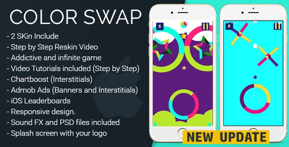 Color Swap 2.0 - iOS Template - CodeCanyon Item for Sale