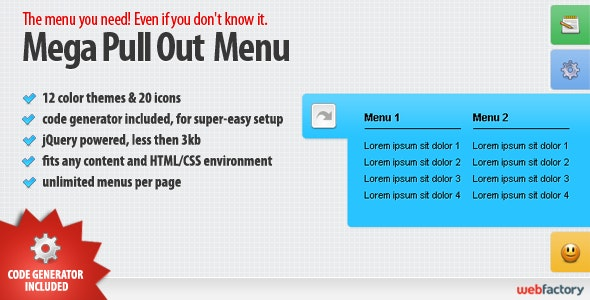 Mega Pull Out Menu - CodeCanyon Item for Sale