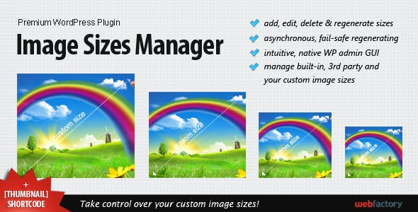 Image Sizes Manager