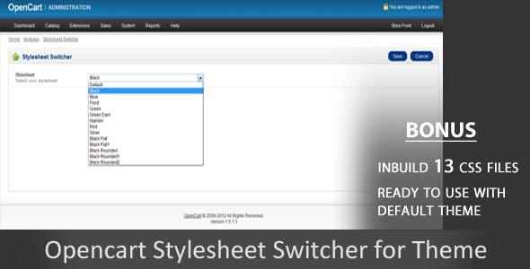 Stylesheet Switcher Opencart Module