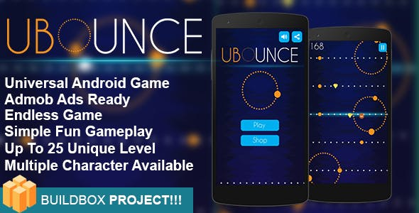 UBounce  - Buildbox Game Template + Android Eclipse Project Template Included