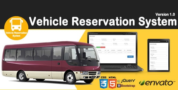 Vehicle Reservation System - CodeCanyon Item for Sale