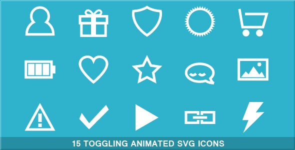 Toggling Animated SVG Icons - CodeCanyon Item for Sale