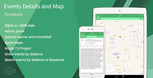 Events, details and map iOS App