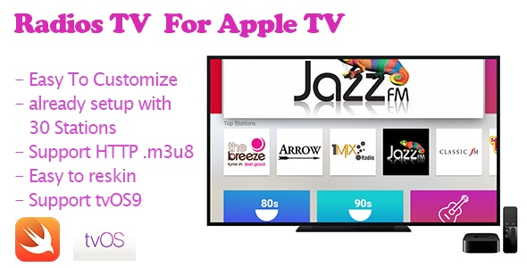 Radios TV  - Streaming Radios for Apple TV - CodeCanyon Item for Sale