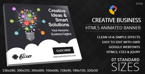 Creative Business - HTML5 ad banners - CodeCanyon Item for Sale