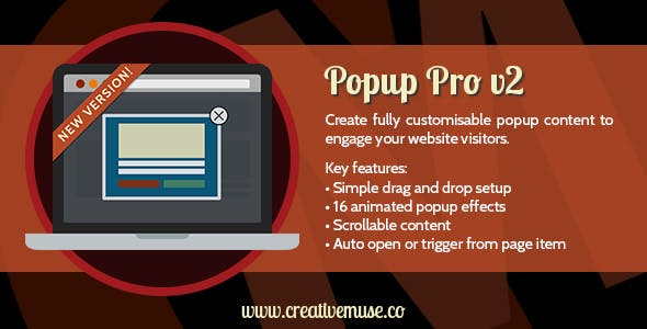 Popup Pro Widget for Adobe Muse